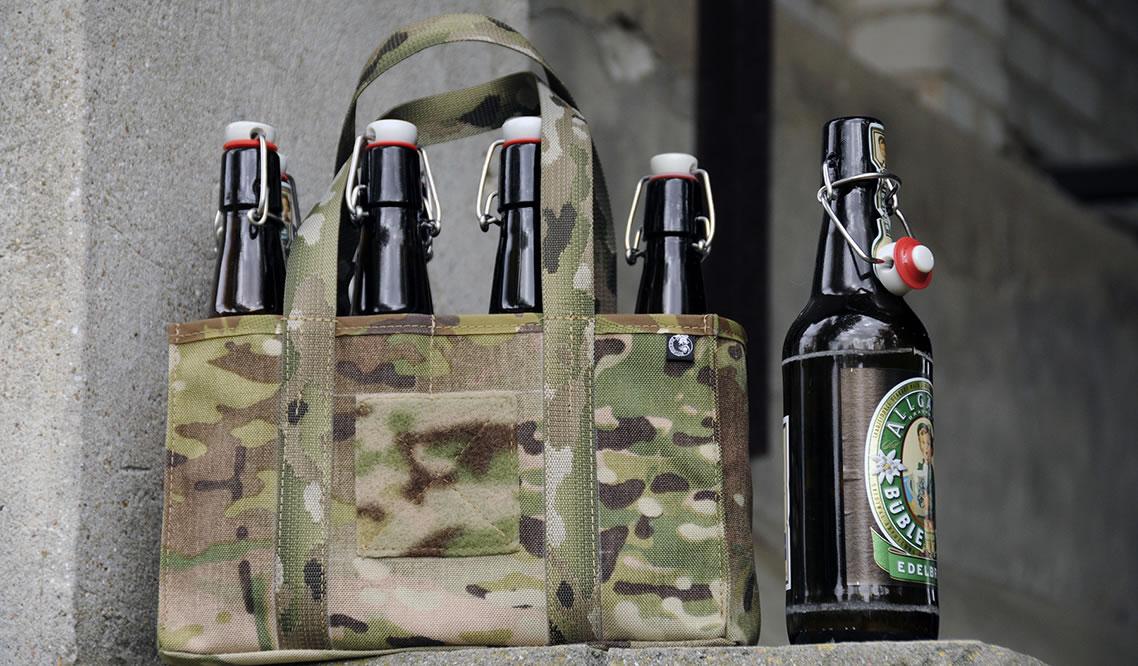 Glasmantelgeschossträger für 8 Flaschen 0,5 Liter von Black Lion Gear