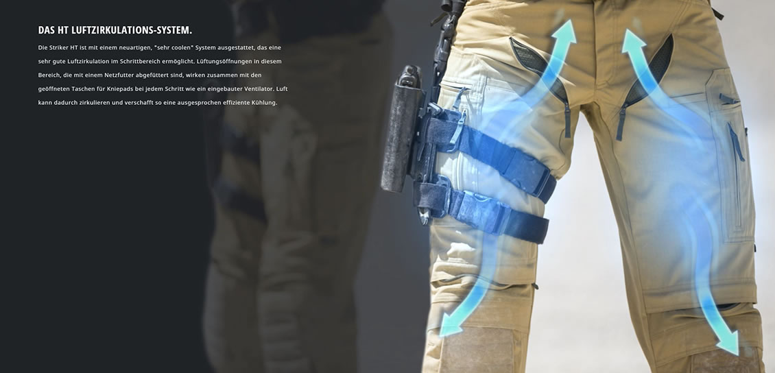 Das Luftzirkulations-Sytem der Kampfhose UF PRO Striker HT