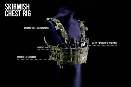 """Chest Rig """"Skirmish"""" von Husar System® in Cojote, Pencott Greenzone®, Multicam® und Flecktarn"""