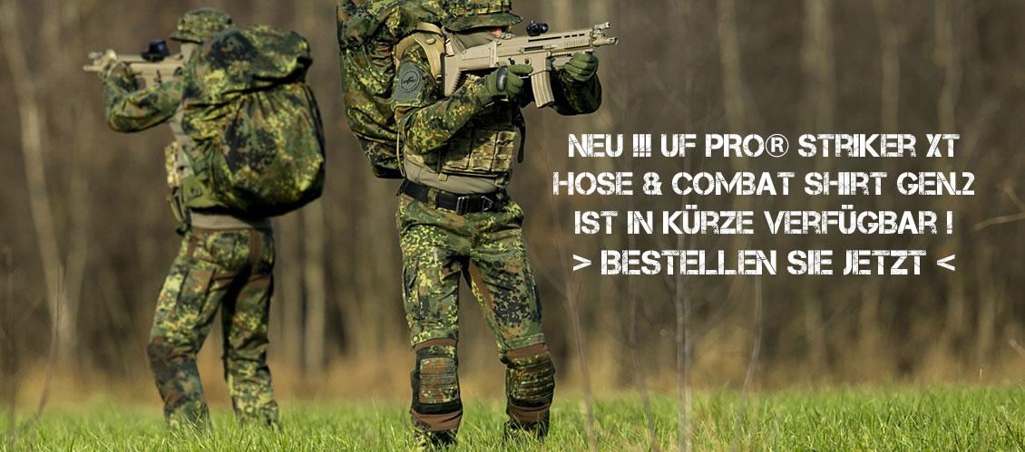 Bestellen Sie jetzt die UFPro® Striker XT Kampfhose oder das Combat Shirt