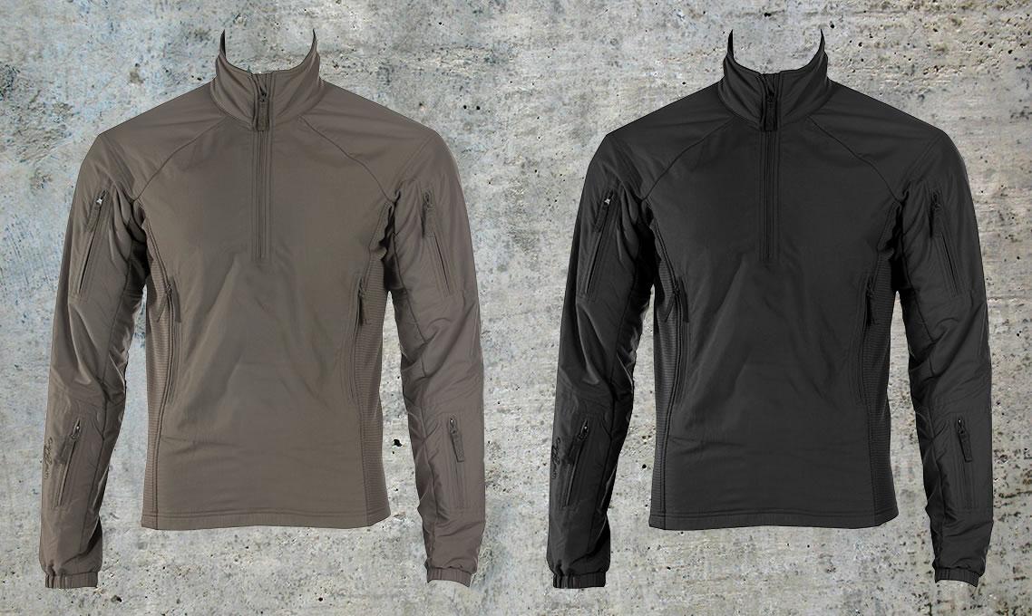 Der UF PRO® Hunter Sweater in steingrau-oliv oder schwarz ist exklusiv nur bei Triple Action erhältlich