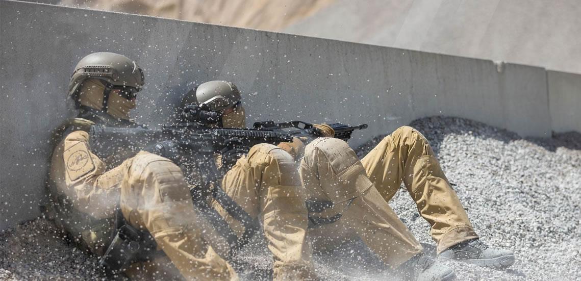 Die UFPro® Striker HT bietet besten Schutz für taktische Spezialkräfte im Kampfeinsat