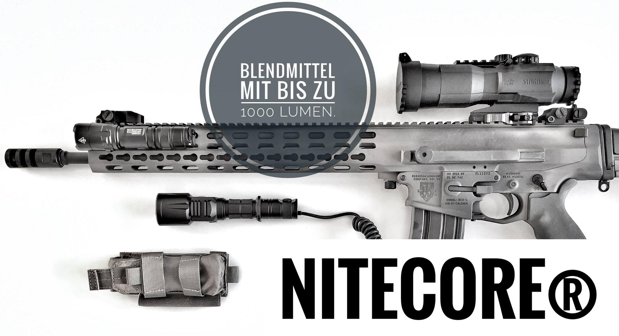 taktischen LED-Taschenlampen NiteCore P25, P20UV und P12GT