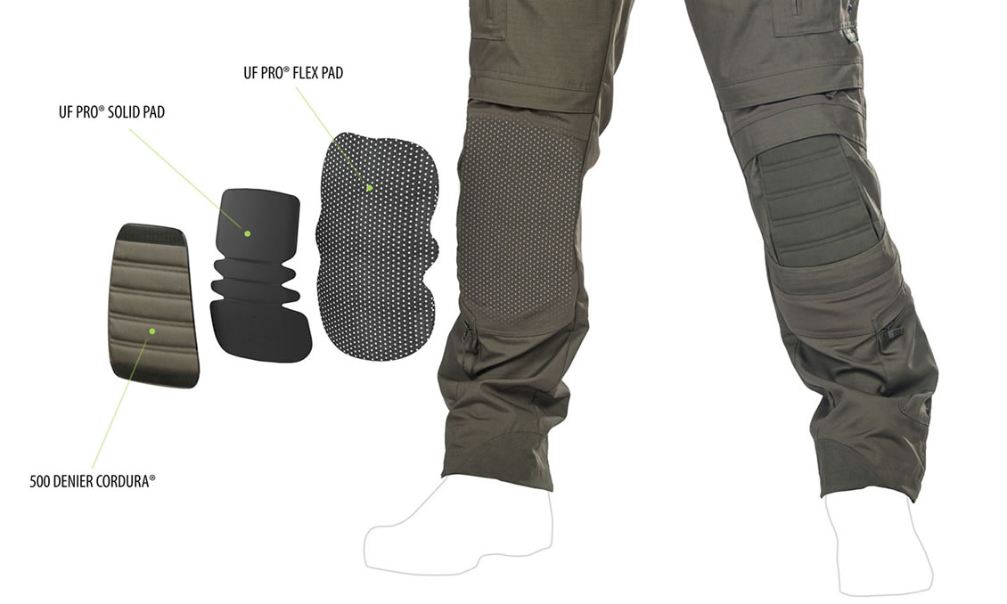 Das Knieschutz-System der taktischen Kampfhose UFPro® Striker XT Gen2