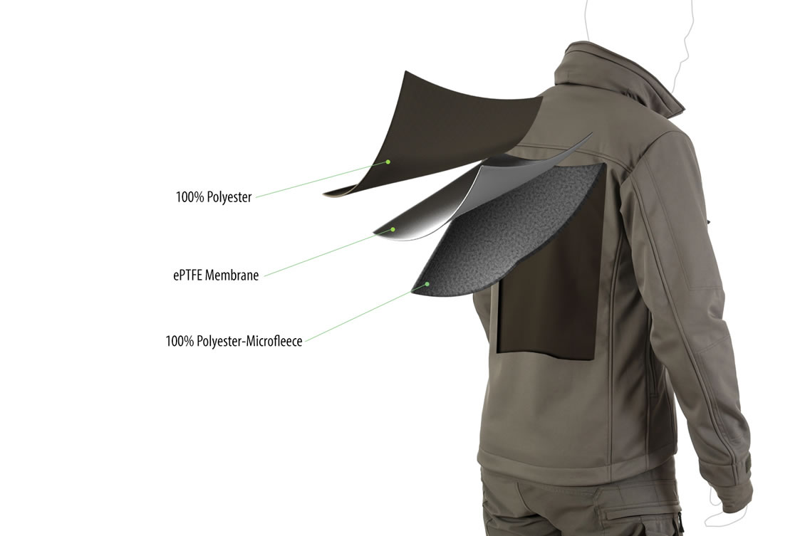 Die taktische Softshell Jacke UF PRO Delta Eagle-Jacke