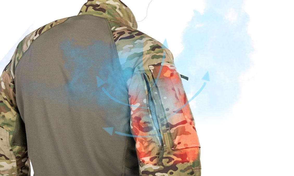 Ventilationsreißverschlüsse des taktischen Combat Shrits UFPro® Striker XT Gen.2
