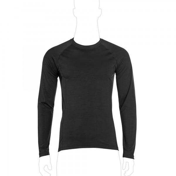 UF PRO® Merino Shirt Langarm Schwarz