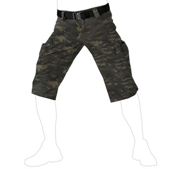UF PRO® P-40 Tactical Shorts Multicam Black