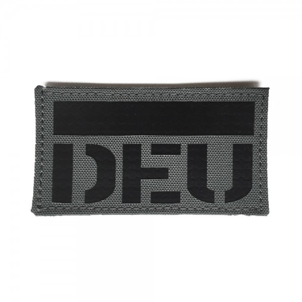 Infrarot Patch / IR Abzeichen DEU grau 90x50 mm