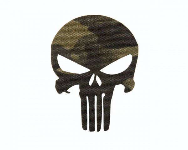 AVUSTAJA Punisher Patch Multicam Black