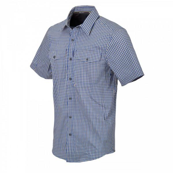 Helikon-Tex Covert Concealed Short Sleeve Shirt Royal Blue Checkered