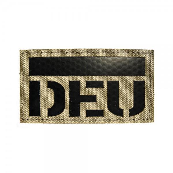 Infrarot Patch / IR Abzeichen DEU 90x50 mm Farbe Tan