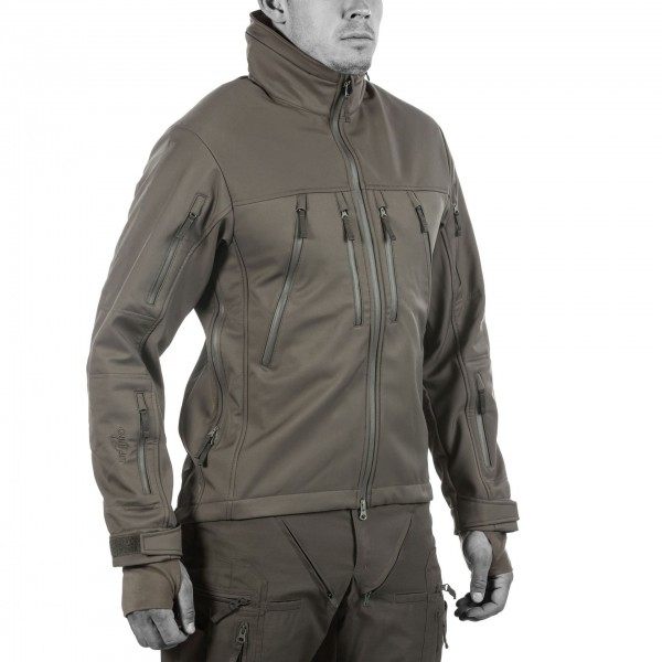 UF PRO® Delta Eagle 2 Softshell Jacke - Steingrau / Oliv