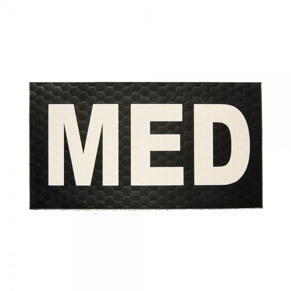 Infrarot Patch / IR Abzeichen MED (MEDIC) 90x50 mm Schrift-Farbe Tan-Desert