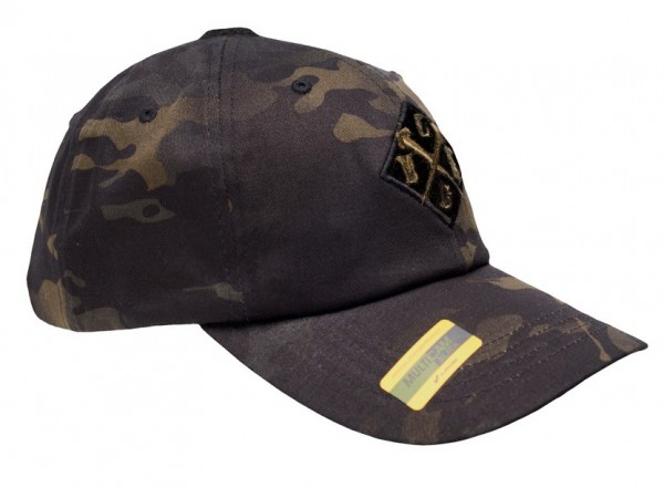 LMSGear Dad Cap MultiCam Black Snapback Crossed Nails
