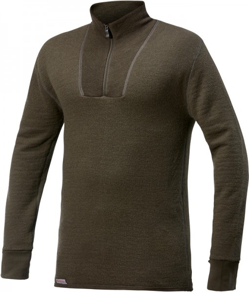 Woolpower Zip Turtleneck 200 Pine Green