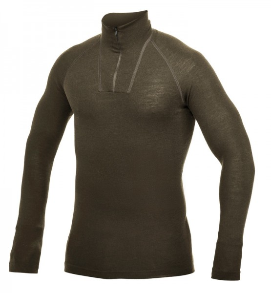 Woolpower Zip Turtleneck Lite Pine Green