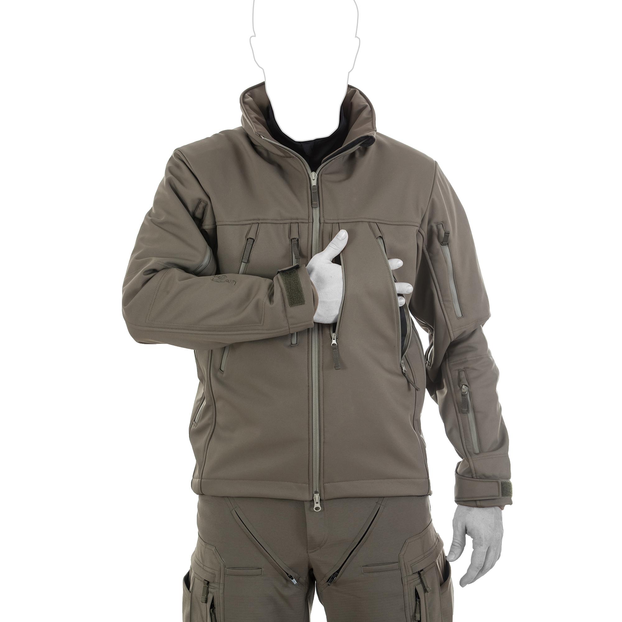 446c114ebdabb5 ... Vorschau: UF PRO® Delta Eagle 2 Softshell Jacke Brusttaschen ...
