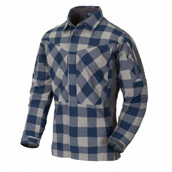 Helikon-Tex MBDU Flannel Shirt Slate Blue Checkered