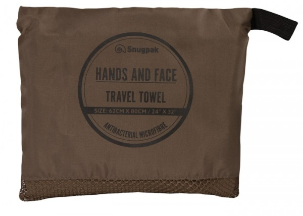 Snugpak Microfaser Handtuch Hands and Face Coyote-brown