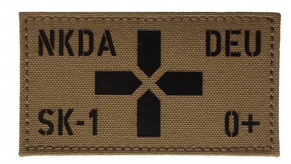 First Aid Patch in Lasercut mit IR- oder Reflektor-Kennung - desert tan